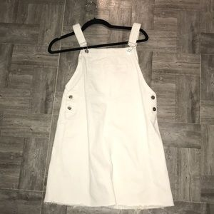 H&M white overall dress